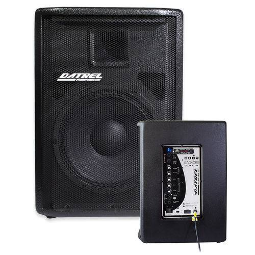 "Kit Caixa Ativa 12"" 250w Bluetooth At12250 + Passiva 12"" 250w Ce250p"
