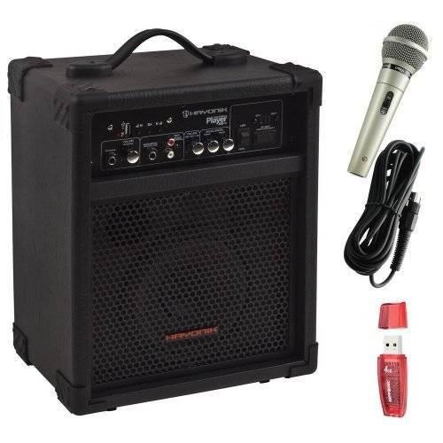 Kit Caixa Multiuso Player 200 com Usb 30w Hayonik + Pendrive + Microfone