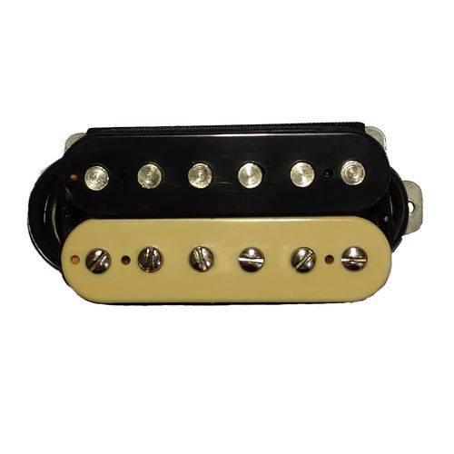 Kit Captadores Malagoli Standard Hb4 Zebra Preto Creme para Braço e Ponte Guitarra