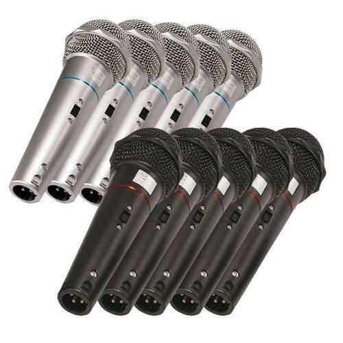 Kit com 6 Microfones de Mão VOXCSR505KIT6 Dinâmico Voxtron