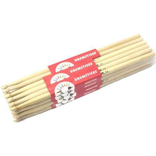 Kit com 10 Pares de Baquetas Custom Drums 5a Maple