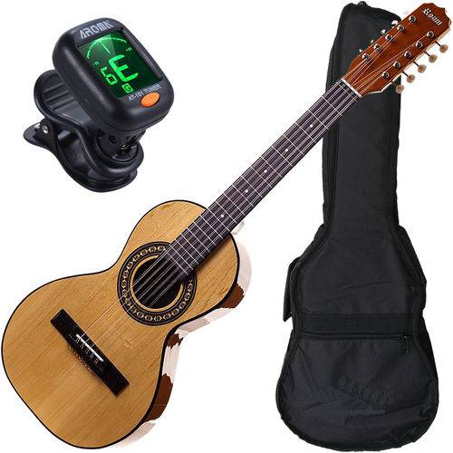 Kit Completo Viola Caipira Acústica Cordas Aço Rv151 Rozini
