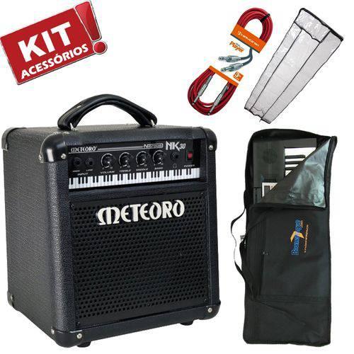 Kit Cubo Amplificador Teclado 30w Nitrous Nk30 Meteoro + Acessórios