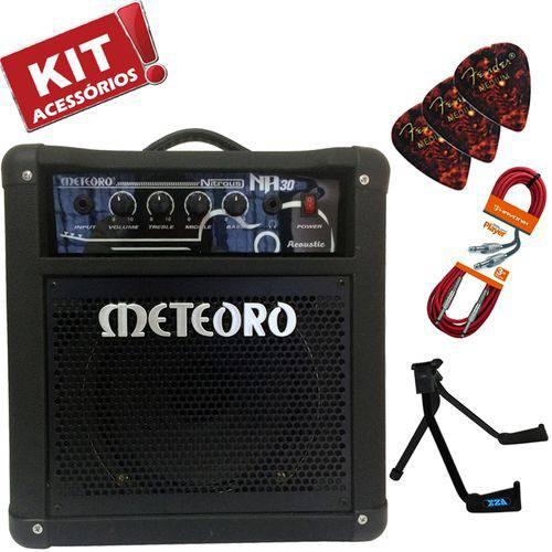 Kit Cubo Amplificador Violão 30w Nitrous Na30 Meteoro + Acessórios
