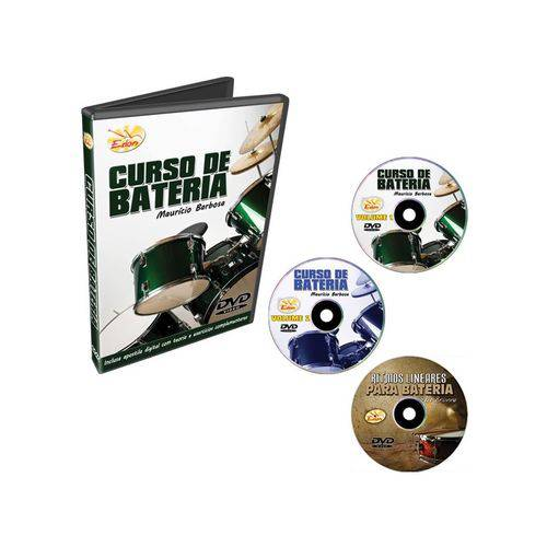 Kit Curso de Bateria Dvds Murício Barbosa 3 Volumes Edon