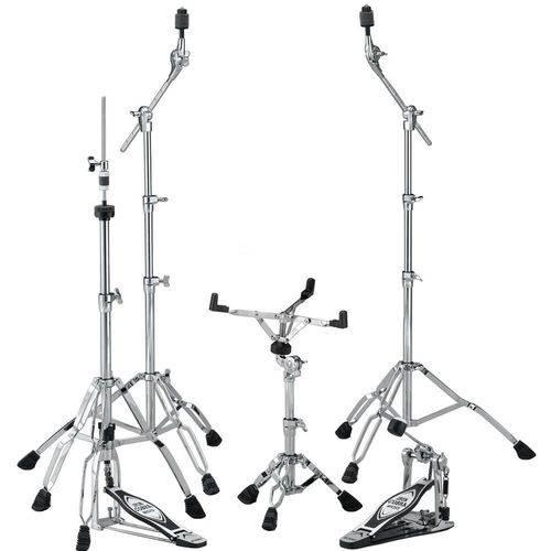 Kit de Ferragens Tama Hb5w com Pedal e Chimbal Iron Cobra 200 + 2 Girafas e Estante de Caixa