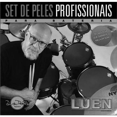 "Kit de Peles Luen Nylon Estudo Silent Head Fusion Signature Dudu Portes 10"" 12"" 14"" 14"""