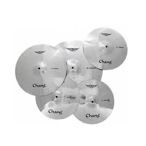 Kit de Pratos Bateria Chang Cymbals Armor - 13/14/16/18 + Bag