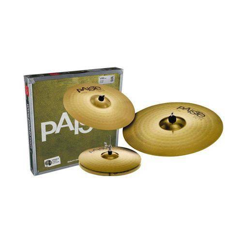 Kit de Pratos de 14 16 20 Paiste 101 Brass Universal Set