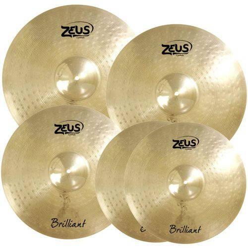 Kit de Pratos Zeus Brilliant Set D 14 16 18 20 + Bag