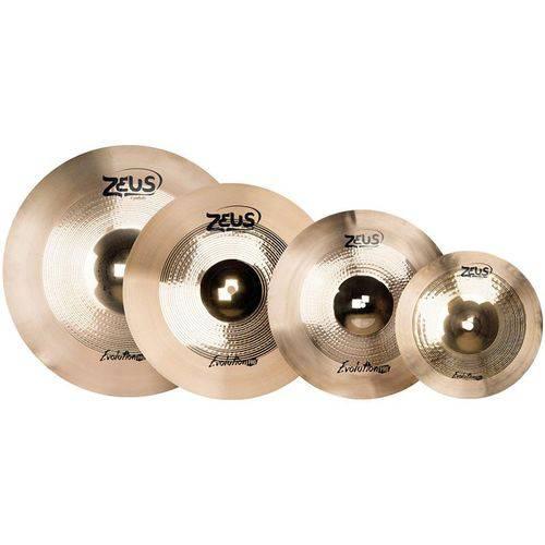 """Kit de Pratos Zeus Evolution Pro D 14"""" 16"""" 18"""" 20"""""""