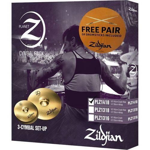 Kit de Pratos Zildjian Planet Z - Plz1418 - 14hh+18crash/ride