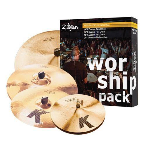 Kit de Pratos Zildjian Worship K Custom - Kc0801w - Hh, Crash, Crash, Ride