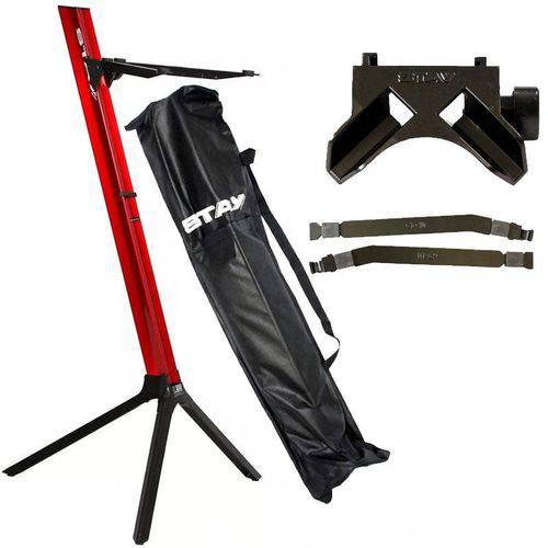 Kit Estante Stay Slim 1100/01 Vermelha com Base e Longarina para Notebook