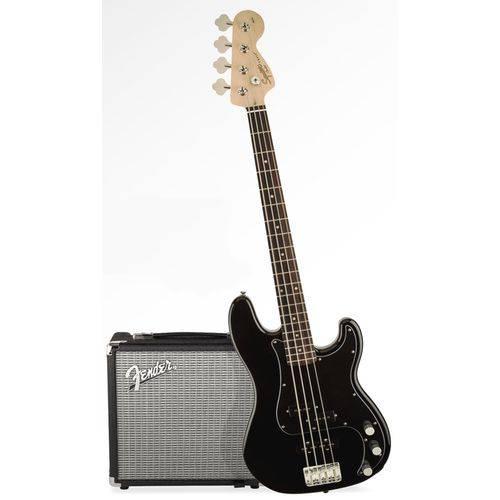 Kit Fender Squier PJ Bass Affinity Pack | 030 1972 | Amp Fender Rumble 15G | Preto