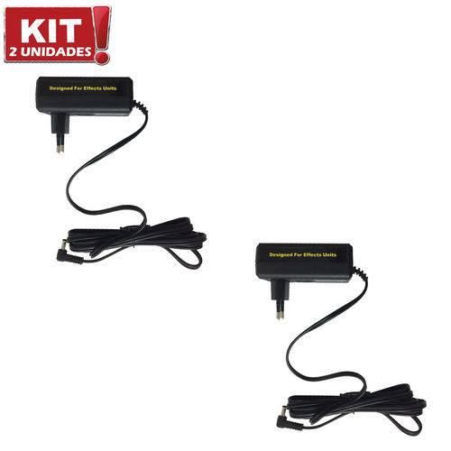 Kit 2 Fontes de Alimetação para Pedais Pndw 9V 2A Mooer