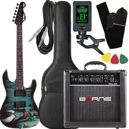 Kit Guitarra Strato Phx Venom + Cubo Borne Gmv-1 Afinador