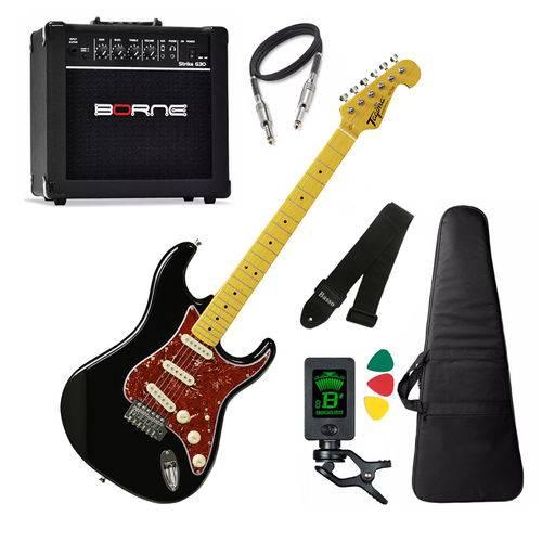 Kit Guitarra Tagima Tg530 Preto Cubo Borne G30