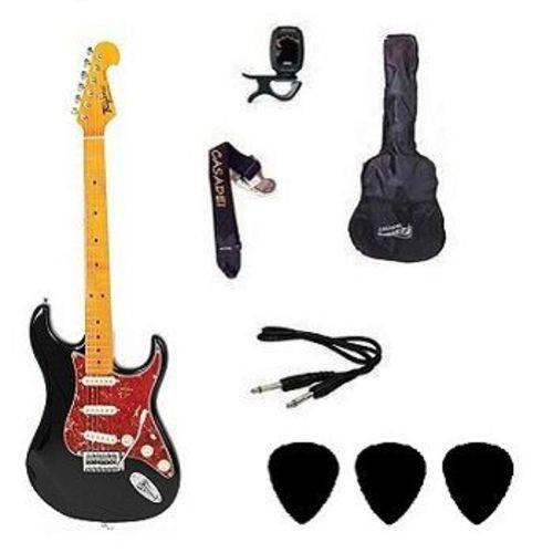 Kit Guitarra Tagima TG530 Strato Preta