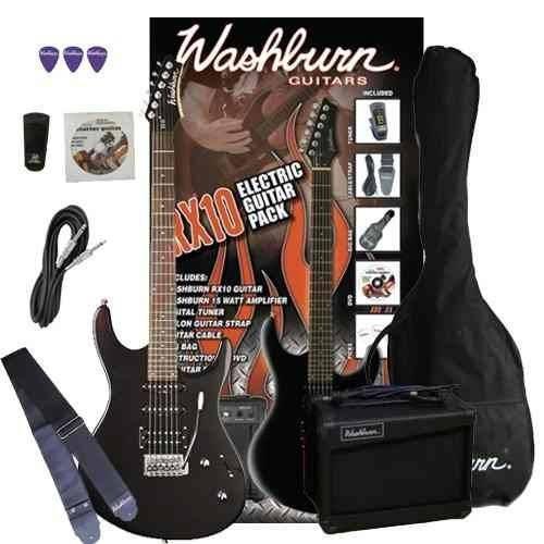 Kit Guitarra Washburn Rx10 + Amplificador 15w e Acessórios