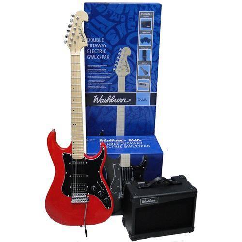 Kit Guitarra Washburn X7rpak + Amplificador 15w e Acessórios