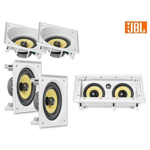 Kit JBL Caixa Som Ambiente Arandela Branca 2 CI6S + 2 CI6SA + CI55RA - 580 WRMS
