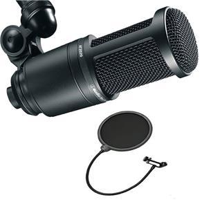Kit Microfone Audio Technica At2020 + Pop Filter