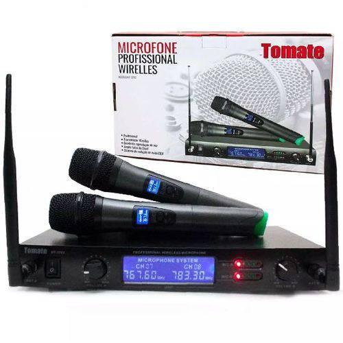 Kit Microfone Sem Fio Duplo Wireless Uhf Mt-2202 Bivolt