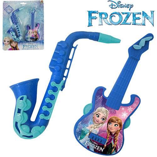 Kit Mini Instrumento Musical Infantil com 2 Pecas Frozen