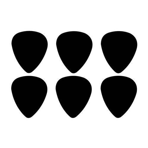 Kit Palhetas para Guitarra 1 Mm Cor Preta com 20 Unidades