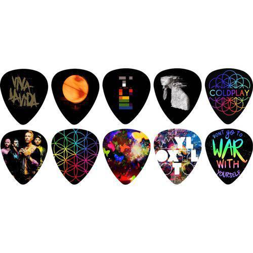 Kit Palhetas Personalizadas Banda Coldplay com 10 Modelos