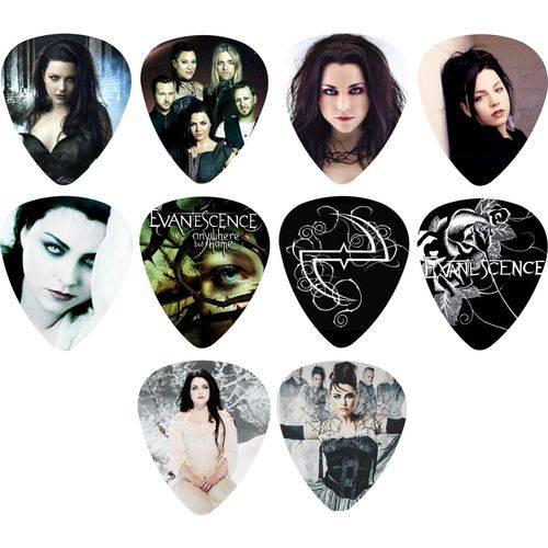 Kit Palhetas Personalizadas Banda Evanescence 1 Mm com 10 Modelos