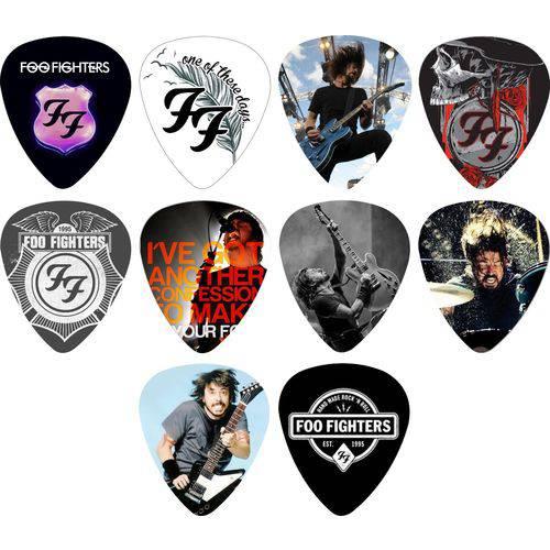 Kit Palhetas Personalizadas Banda Foo Fighters 1 Mm com 10 Modelos