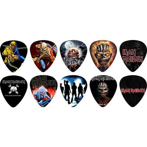 Kit Palhetas Personalizadas Banda Iron Maiden com 10 Modelos