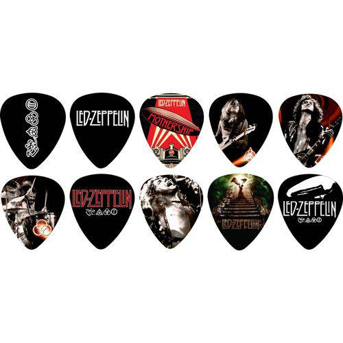 Kit Palhetas Personalizadas Banda Led Zeppelin com 10 Modelos