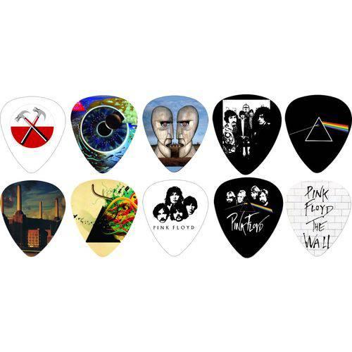 Kit Palhetas Personalizadas Banda Pink Floyd com 10 Modelos
