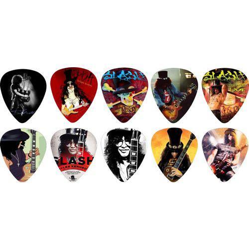 Kit Palhetas Personalizadas Guitarrista Slash com 10 Modelos