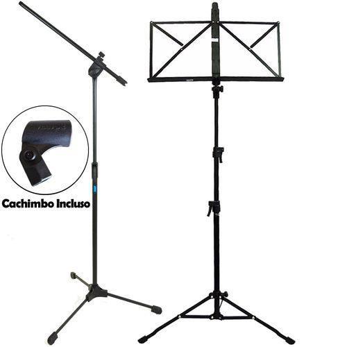 Kit Pedestal Girafa P/ Microfone Ask + Estante de Partitura