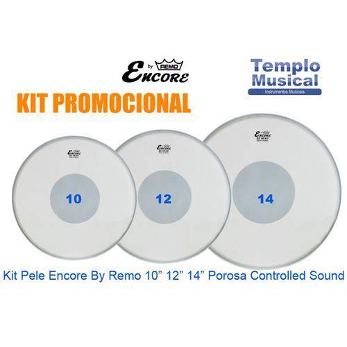 Kit Pele 10'' 12'' 14'' Encore By Remo Porosa Controlled Sound