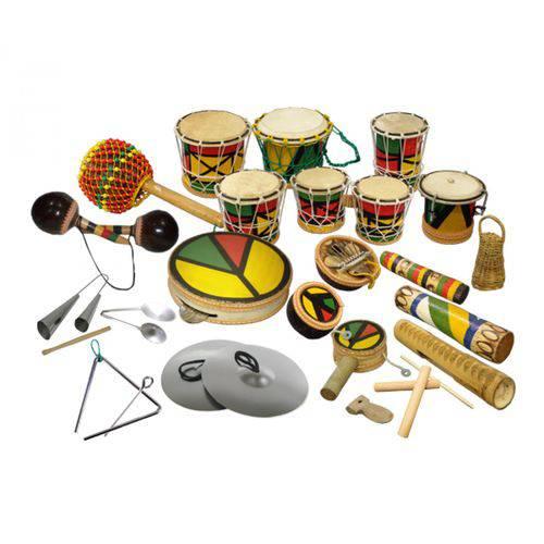 Kit Percussão Lúdico Contendo 22 Instrumentos.