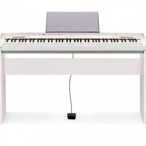 Kit Piano Digital 88 Teclas Px160 We Branco Casio com Estante + Pedal Sp3