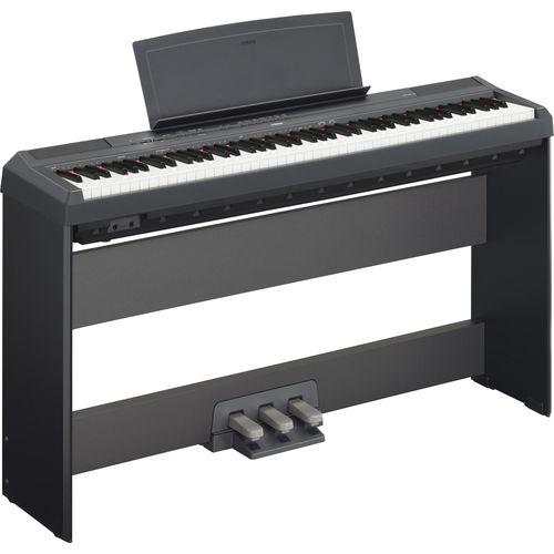 Kit Piano Digital Yamaha P115 + Estante L85 + Pedal Triplo Lp-5a