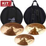 "Kit Pratos Orion Rage 10 Full Set Rg 70 14""16""20""com Bag"