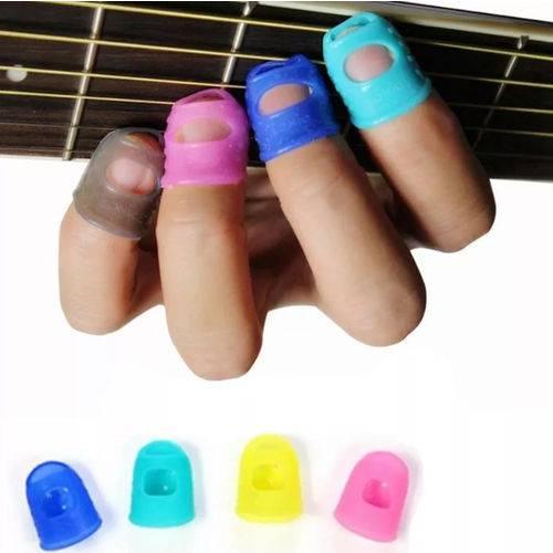 Kit Protetor de Dedo Silicone Dedeira Violão Guitarra Baixo