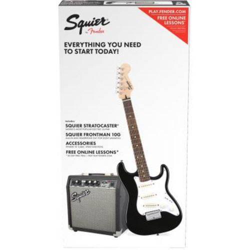 Kit Squier Guitarra Stratocaster Affinity Amplificador Fender Frontman Correia Fender Cabo Palhetas