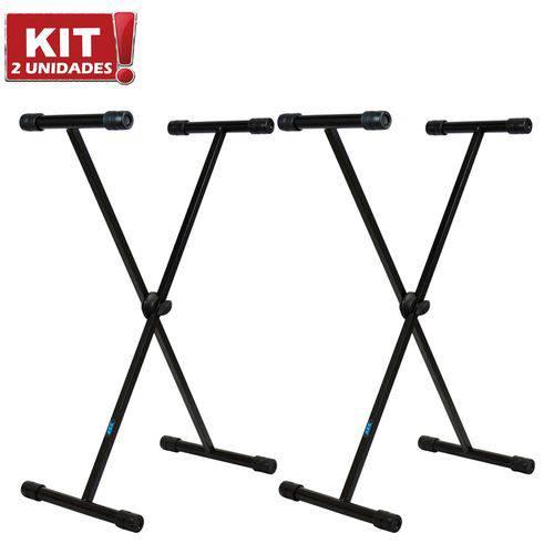 Kit 2 Suportes para Teclado Musical X10 Preto ASK Reforçado