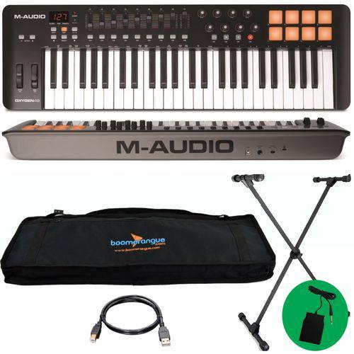 Kit Teclado Controlador Midi USB Oxygen 49 V4 M-audio Completo