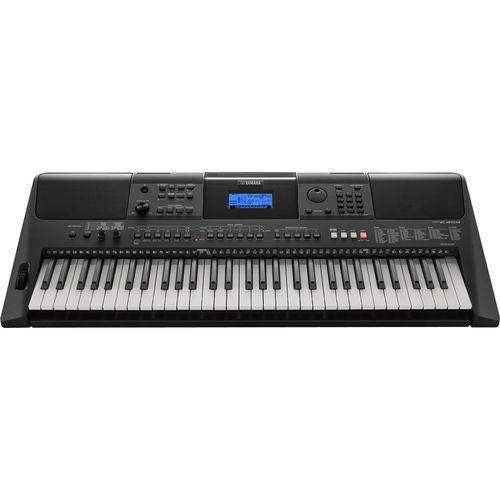 Kit Teclado Musical Arranjador Yamaha Preto - PSR-E453 - 61 Teclas - Display LCD
