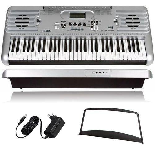 Kit Teclado Musical Medeli M5 61 Teclas C/suporte P/partitura