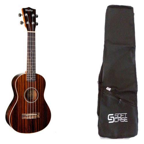 Kit Ukulele Concerto Acústico Shelby Su23r + Bag Acolchoada